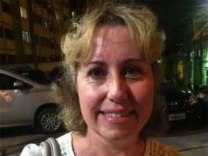 Olga Keller, 47 anos, após exame da OAB (Foto: Rodrigo Ortega/G1)