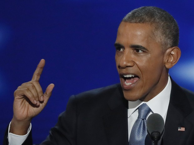Obama discursa na convenção democrata na Filadélfia (Foto: Mike Segar/Reuters)