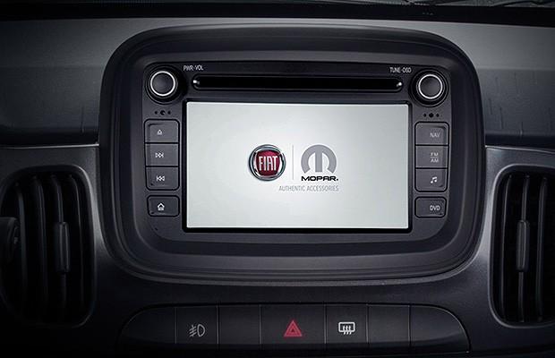 Tela multimídia do Fiat Mobi (Foto: Reprodução)