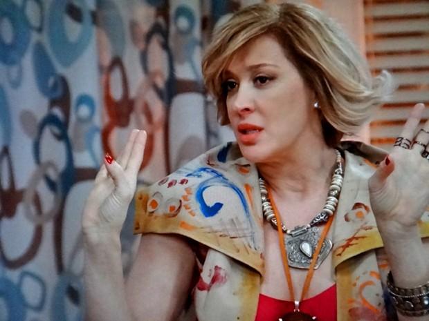 Samantha inventa história de que Caíque é apaixonado por ela (Foto: TV Globo)