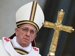 Papa Francisco celebra missa de Páscoa. (Foto: Alberto Pizzoli / AFP Photo)