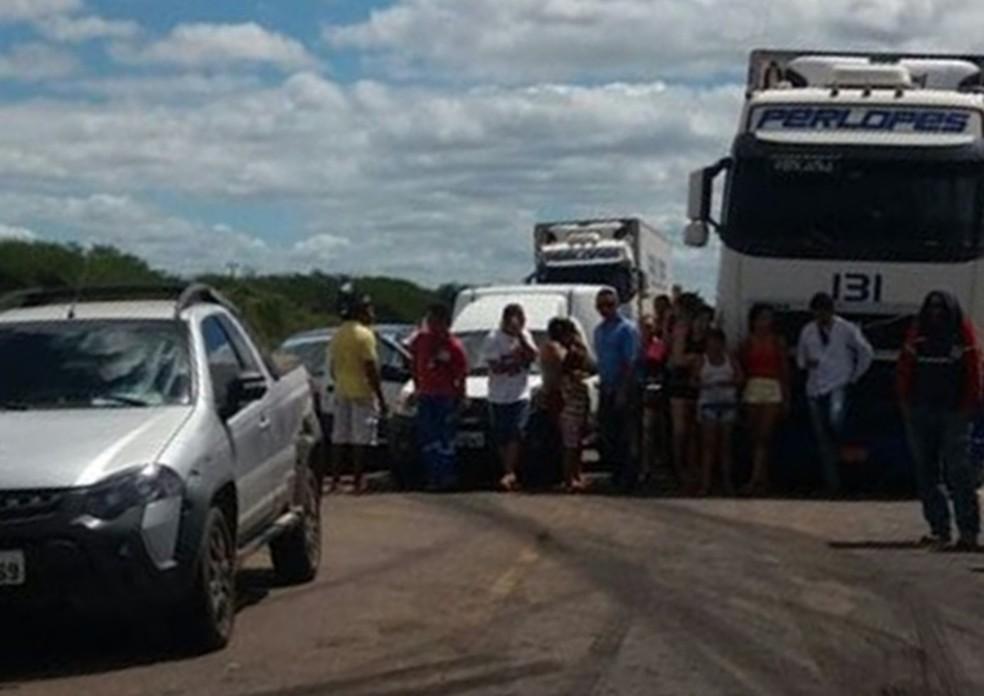 Familiares de presos pedem melhorias na Penitenciária Mário Negócio, em Mossoró, RN (Foto: Divulgação)