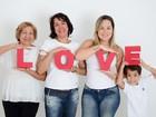 Prestes a ganhar irmão, Luiz Felipe Mello mostra as mulheres de sua vida