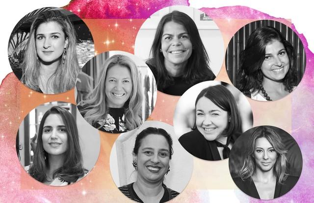 Daniela Falcão, Silvia Rogar, Donata Meirelles, Barbara Migliori, Camila Garcia, Luiza Souza, Ana Carol Ralston e Carol hungria! (Foto: Reprodução/Vogue Brasil)