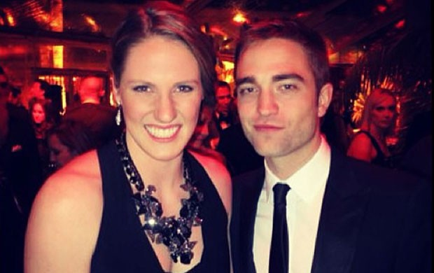 Missy Franklin e Robert Pattinson, Prêmio Globo de Ouro (Foto: Reprodução / Instagram)