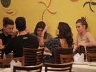 Juliana Paes janta com Carolina Dieckmann e Preta Gil