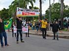 No Acre, manifestantes fazem atos a favor e contra Dilma e Lula