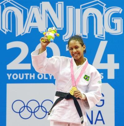 Layana Colman judo naquim 2014 natação (Foto: Site Oficial Nanquim 2014)