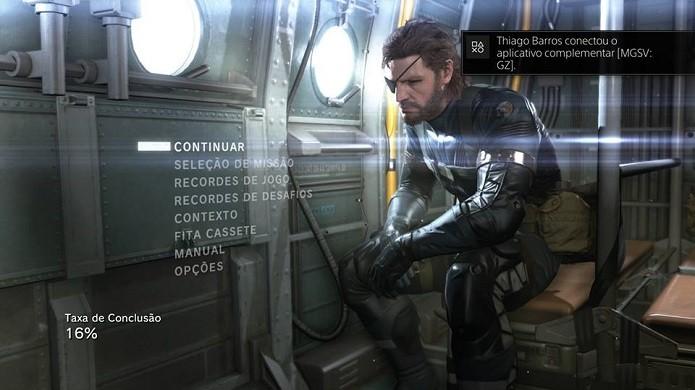 Aplicativo realiza conexão com o videogame (Foto: Thiago Barros/Reprodução)