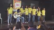Alunos do Projeto Guri se apresentam em São Vicente