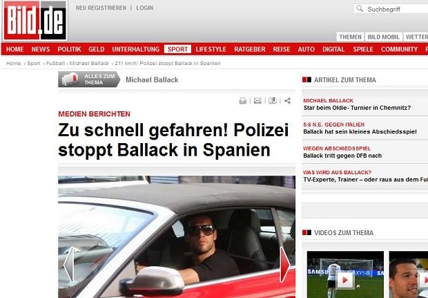 Ballack em seu carro (Foto: Bild.de)