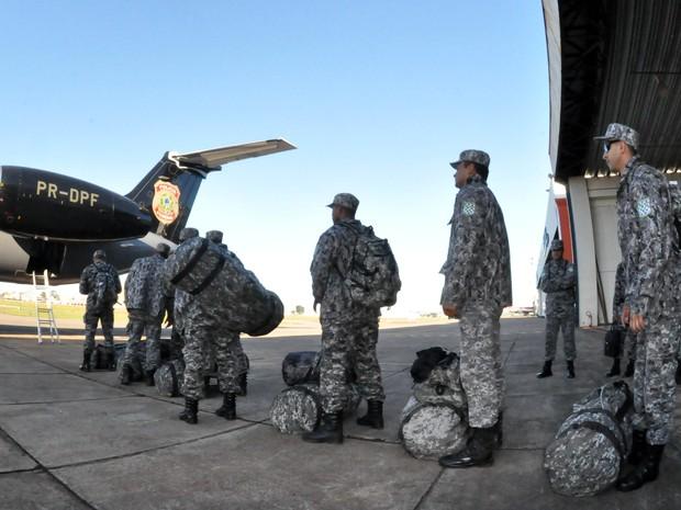 Trabalho da Força Nacional foi autorizado no fim de março (Foto: Allan de Carvalho/AGMJ/Divulgação)