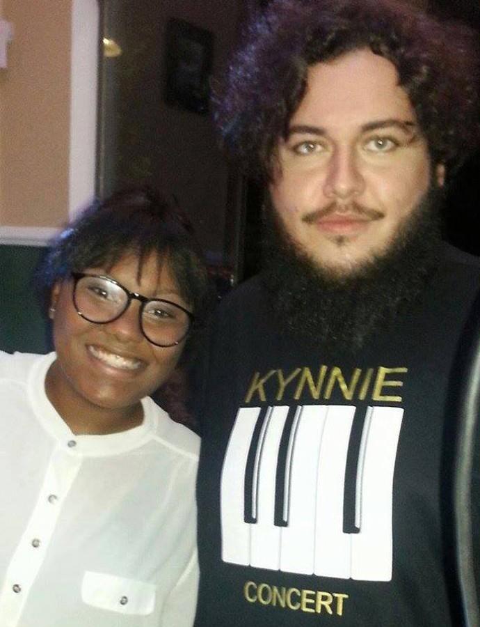 Marcos com Kynnie, amiga de longa data (Foto: Arquivo pessoal)