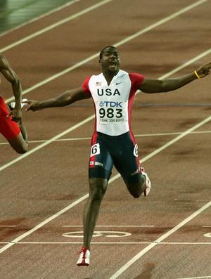 Atletismo Justin Gatlin mundial de helsinque 2005 (Foto: Agência Getty Images)
