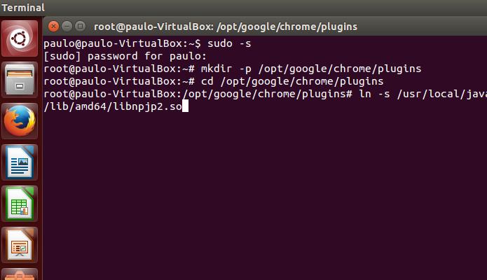 Crie o link do Java para Linux no Chrome (Foto: Reprodução/Paulo Alves)