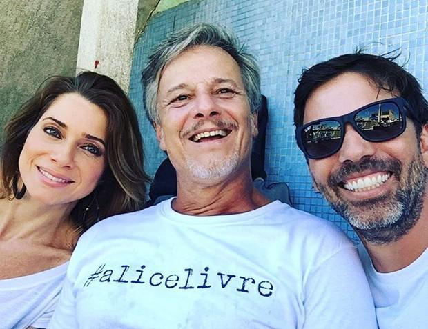 Babalu, Raí e Ralado: Letícia Spiller, Marcello Novaes e Marcelo Faria (Foto: Reprodução/Instagram)