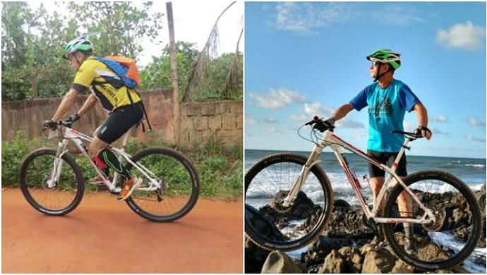 Antônio ciclista (Foto: GloboEsporte.com)