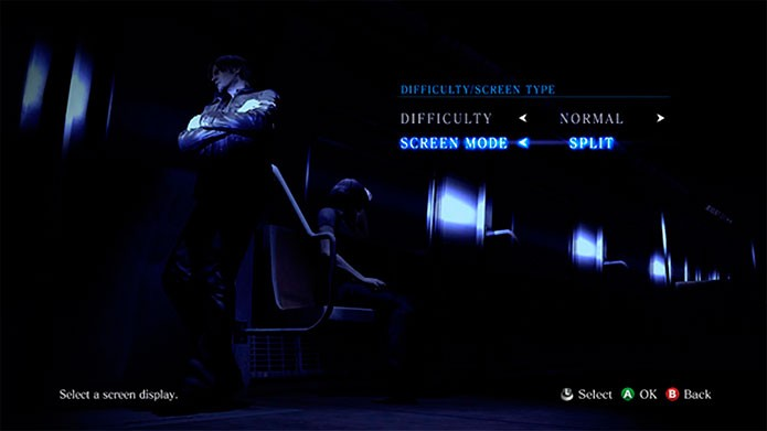 Selecione Split ou Dividida para jogar com dois jogadores na mesma tela (Foto: Divulgação)