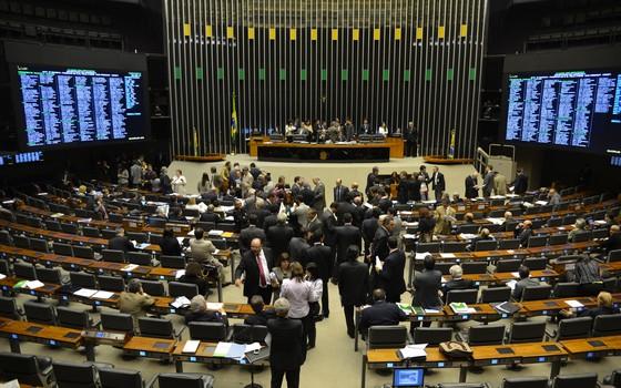 Plenário da Câmara dos Deputados durante votação (Foto: Valter Campanato/ABr)