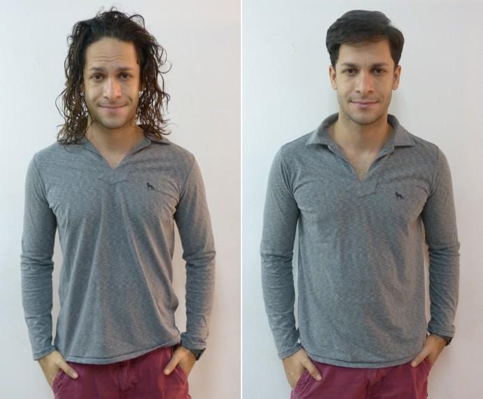 Confira o antes e depois do ator (Foto: Fabio Rosso/ Gshow)