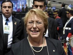 A presidente do Chile, Michelle Bachelet, em foto de 1º de março (Foto: Reuters/Carlos Pazos)