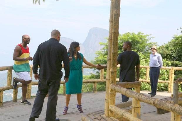 Kim Kardashian e Kanye West na Vista Chinesa (Foto: Gabriel Reis e MArcelo Sá Barreto/ Ag. News)