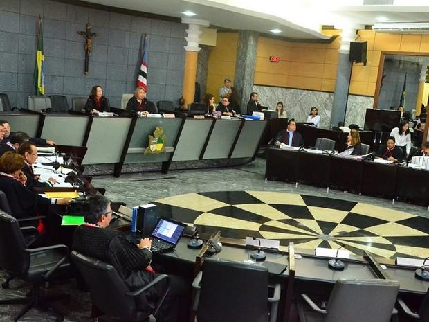 Sessão administrativa realizada nessa quarta-feira (20) (Foto: Ascom / Ribamar Pinheiro)