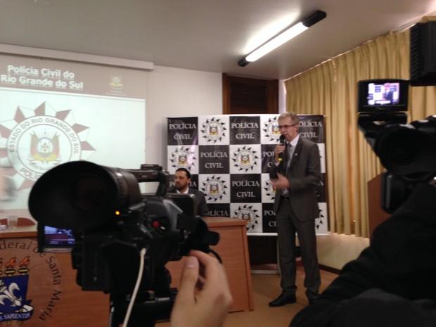 Polícia Civil apresentou últimos dois inquéritos sobre a boate Kiss (Foto: Bruna Taschetto/RBS TV)