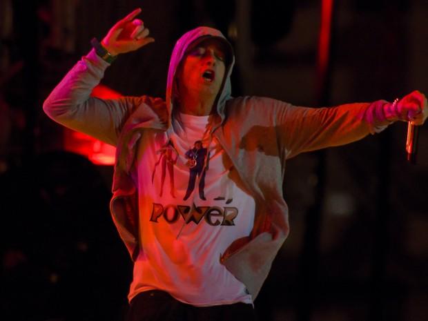 Eminem faz show no Lollapalooza em São Paulo (Foto: Flavio Moraes/G1)