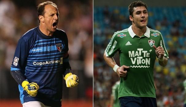 Rogério Ceni e Vinicius fazem duelo de gerações neste final de semana (Foto: Reprodução/GE)