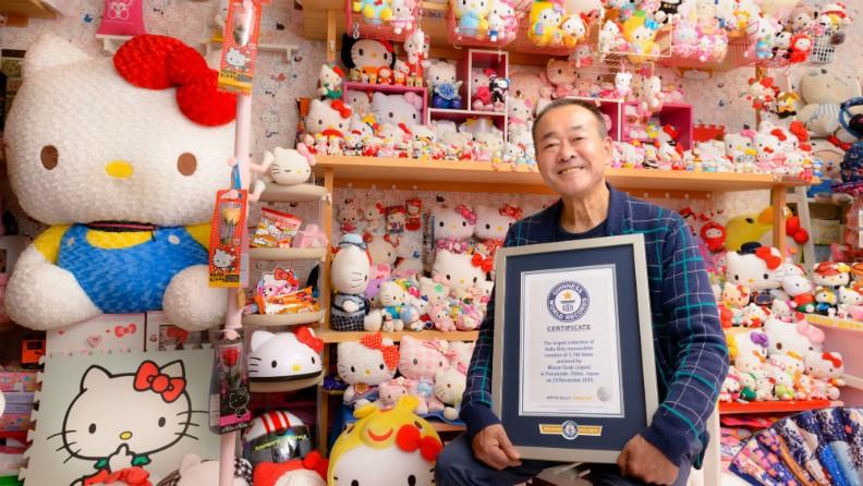 Este homem é o maior fã da Hello Kitty do mundo, o maior