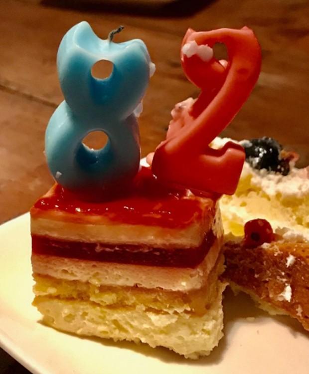 Maurício de Sousa foi supreendido com jantar e aniversário (Foto: Reprodução/Instagram)