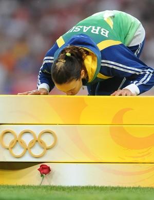 maurren maggi salto triplo pódio medalha de ouro (Foto: Agência Xinhua)
