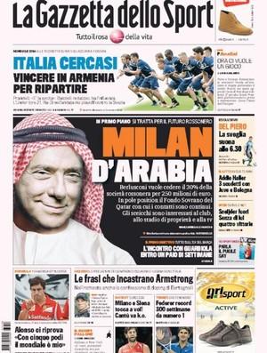 Berlusconi na capa da La Gazzetta dello Sport (Foto: Reprodução / La Gazzetta dello Sport)