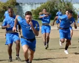 Resende treina pensando em mais desafio pelo Campeonato Carioca (Foto: Reprodução RJTV 2ª Edição)