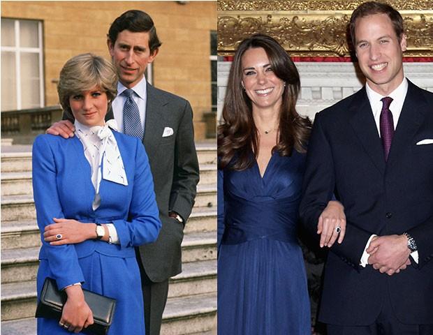 Kate Middleton recebeu o anel de noivado de safira de Lady Di (Foto: Divulgação / Getty Images / Montagem)