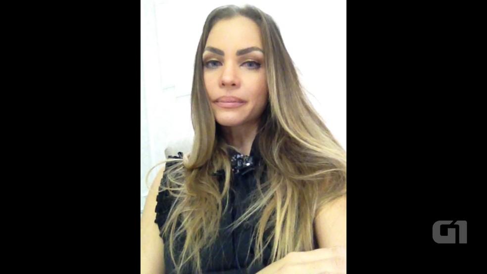 Ex-primeira-dama da Paraíba Pâmela Bório gravou vídeo falando sobre o vazamento de fotos íntimas dela (Foto: Reprodução/G1)