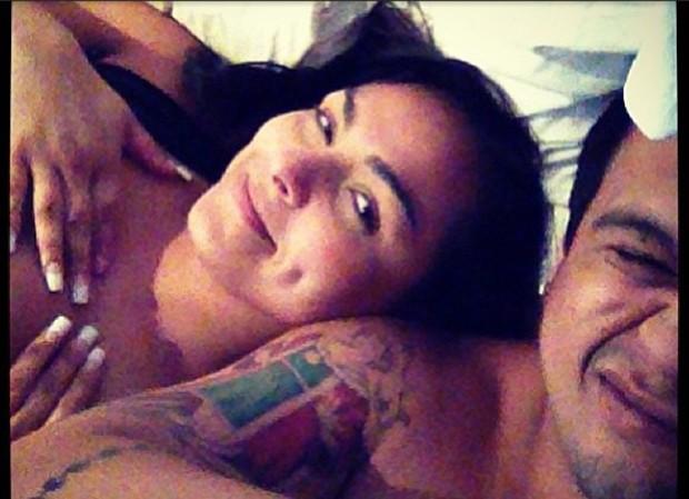 Mulher Melancia e o namorado (Foto: Instagram / Reprodução)
