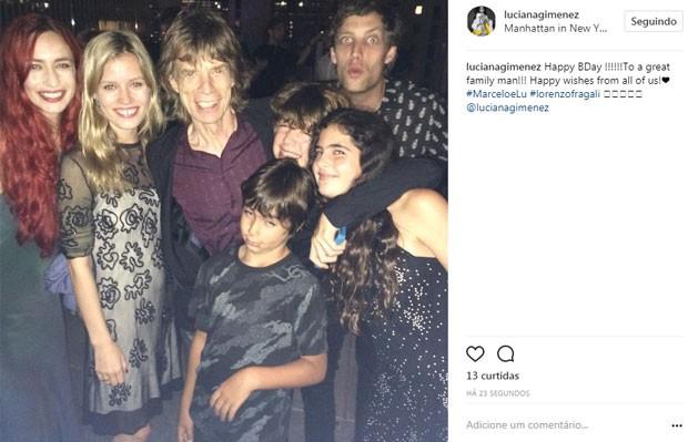 Luciana Gimenez presta homenagem para ex Mick Jagger (Foto: Reprodução)
