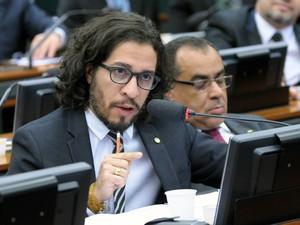 O deputado Federal Jean Wyllys (PSOL-RJ), durante audiência em comissão da Câmara (Foto: Alex Ferreira/Câmara dos Deputados)