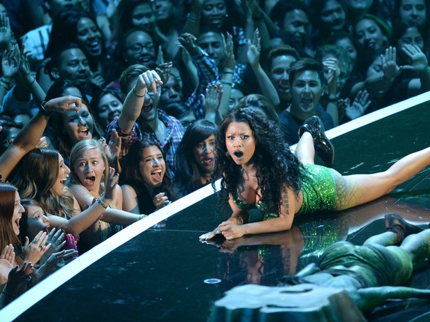 Nicki Minaj se apresenta no VMA (Foto: Robyn Beck/ AFP)