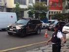 Ricardo Pessoa, dono da UTC, chega para depor na sede do TRE de SP