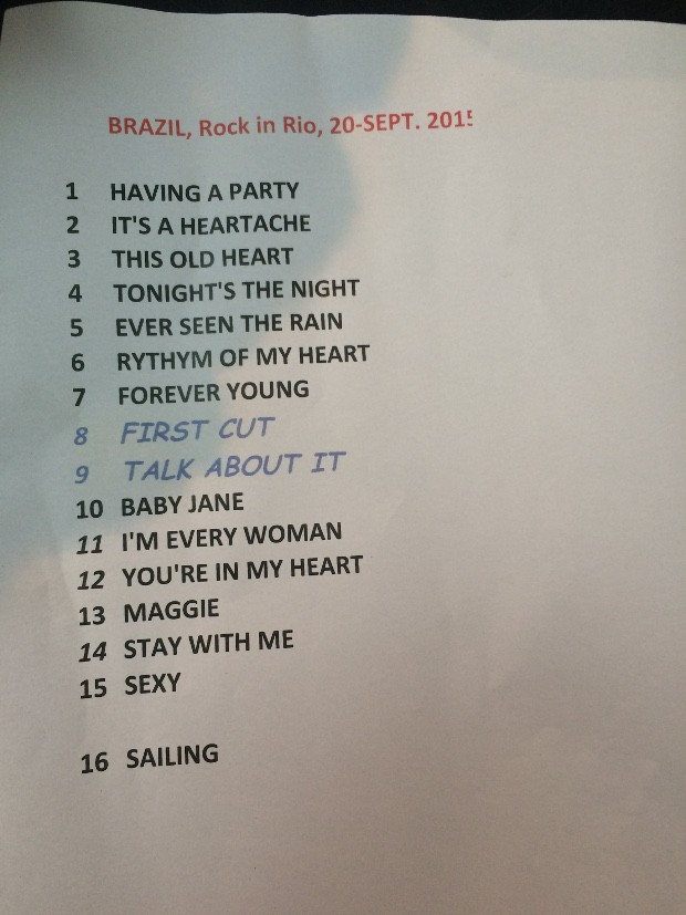 Setlist: Rod Stewart no Rock In Rio 2015 (Foto: Multishow)
