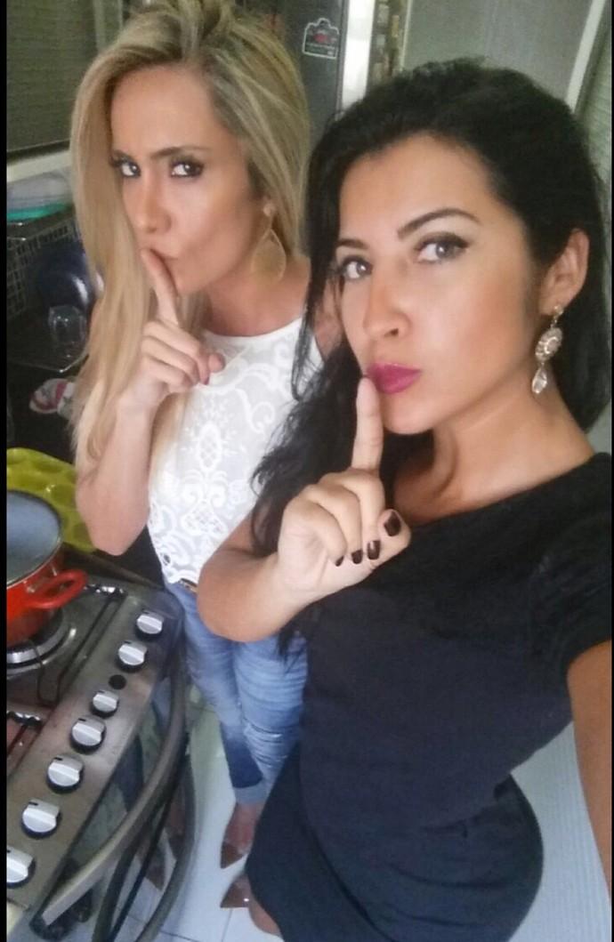 Priscila e a coach Vanessa Rangeli, que a ajudou na perda de peso (Foto: Arquivo pessoal )