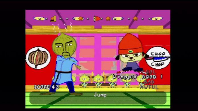 PaRappa the Rapper é considerado o primeiro jogo musical. (Foto: Reprodução/IGN)