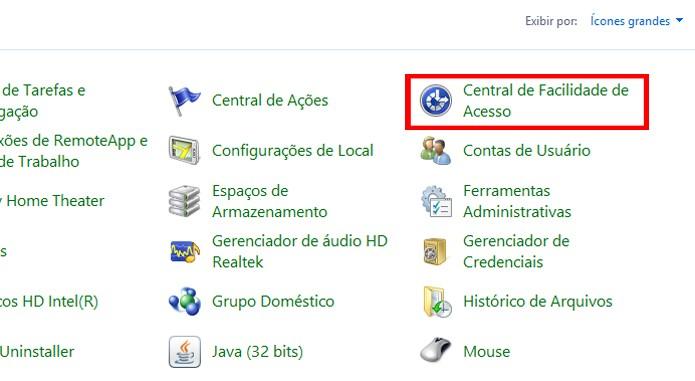 Visualização do Painel de Controle pode precisar ser mudada (foto: Reprodução/Windows)