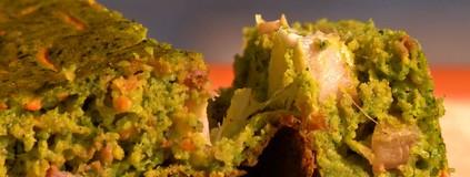 Torta verde de casca de cabotiã: ótima dica pra comer um lanche diferente