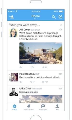 Função 'Enquanto você esteve fora' do Twitter mostra tuítes top que o usuário deixou de ver. (Foto: Divulgação/Twitter)