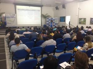 Seminário nesta terça-feira (1º) apresentou números para gestores (Foto: John Pacheco/G1)
