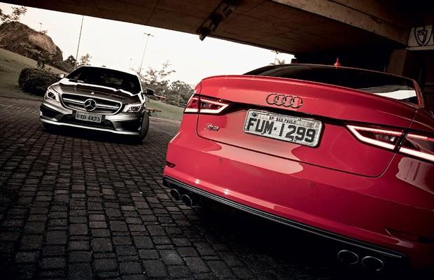 Mercedes CLA 45 AMG vs Audi S3 Sedan (Foto: Fabio Aro)
